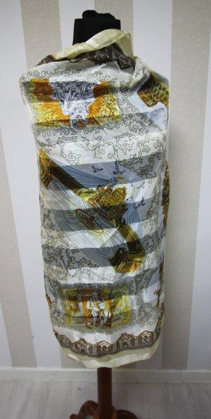 Kerchief white-gold-colored