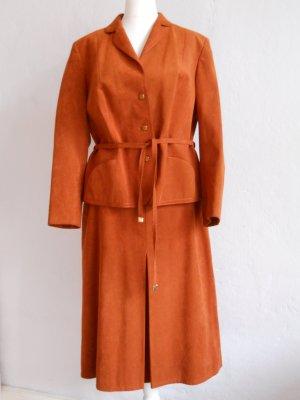 Vintage Twin Set russet imitation leather