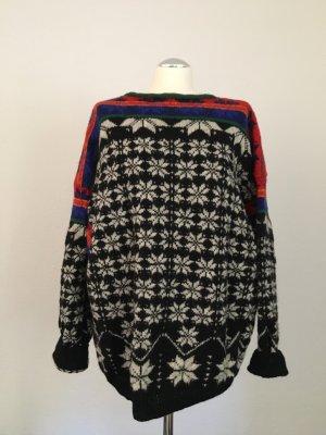Vintage Jersey estilo Noruego multicolor Lana
