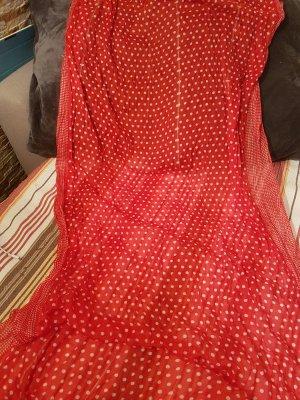 XL Viskose Tuch - rot mit weissen Punkten
