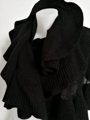 Bufanda de punto negro