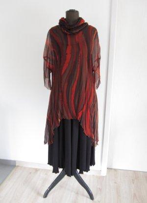 Tunique-blouse multicolore soie