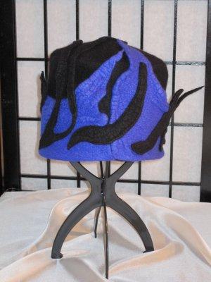 Cappello in feltro nero-blu Lana merino