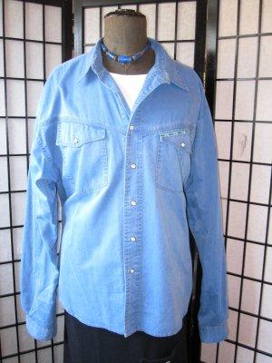 Camisa vaquera azul acero Algodón