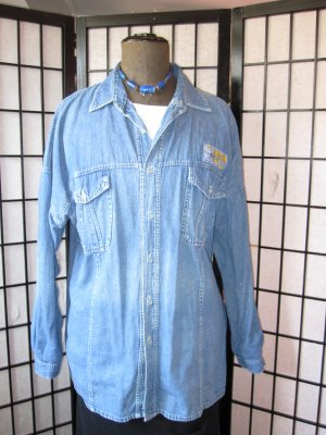 C&A Camisa vaquera azul Algodón
