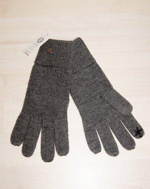 Esprit Gebreide handschoenen donkergrijs-grijs Acryl