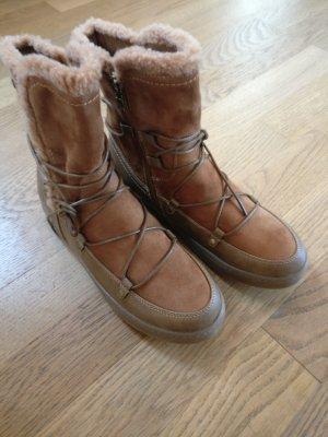 XTI Boots NEU, Schnürboots, Gr. 38 Farbe: cognac