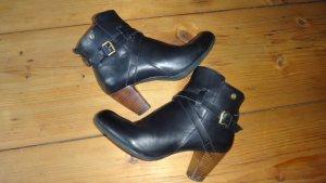 Xti Zipper Booties black leather