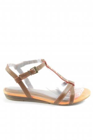 Xti Strapped Sandals neon orange-brown casual look