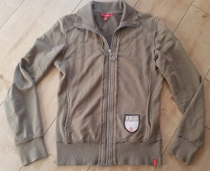 XX by MEXX Vintage Military Look Army Sweat Jacke Training S 36 Khaki Schlamm