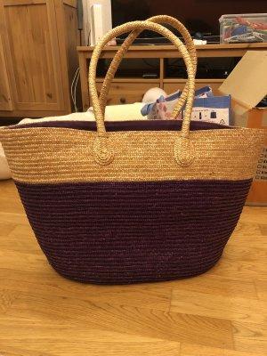 Basket Bag cream-blackberry-red