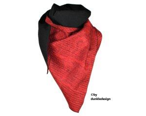 XXL Dreieckstuch Schwarz Rot #273