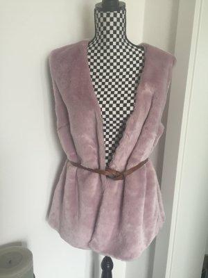 XXL Fellweste, Weste Sheego Gr.46 kann oversized getragen werden S M L Flieder rosa