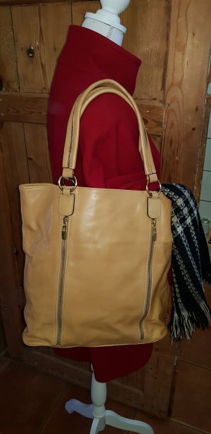 0039 Italy Shopper brun sable-cognac cuir