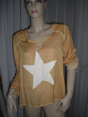 XXL Longshirt Mit Pailleten und Stern Stylisch Gr ONE Size 38 - 42 NEU