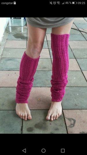 XXL Overknee-Stulpen in pink