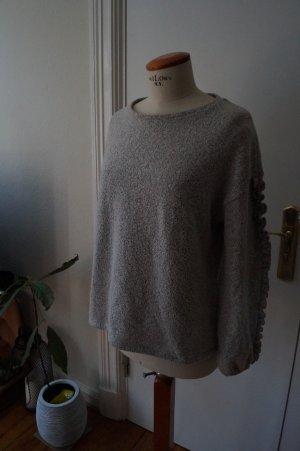 Zara Pull oversize gris clair-gris