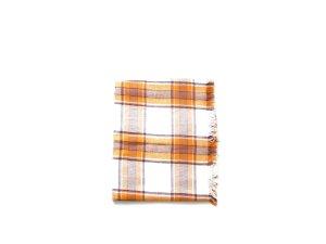 XXL Oversized Schal Asos tartan karo kariert checked orange camel weiß trend