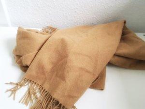 XXL Schal aus 100% Wolle beige braun wie neu