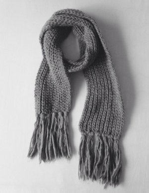 Clockhouse Knitted Scarf grey