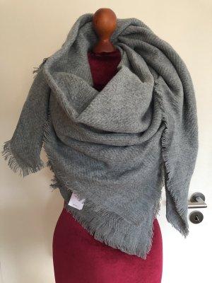 Anna Field Sjaal met franjes lichtgrijs-grijs