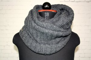 XXL Schal Loop Made in Italy Marella Sports Wolle Kaschmir Mix Grau Chunky Knit