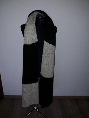 Pieces Sjaal zwart-licht beige