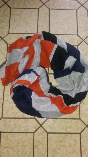 XXL-Schal von asos in Orange/Blau/Weiß