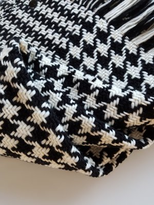 Opus Wollen sjaal wit-zwart