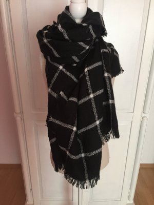 Pimkie Bufanda de lana negro-blanco