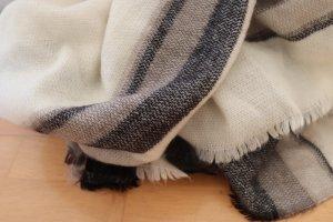Zara Écharpe en laine noir-blanc