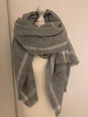 Zara Wollen sjaal grijs-wit