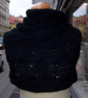 Écharpe tube noir acrylique