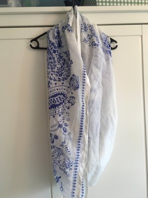 Pieces Bufanda tubo blanco-azul
