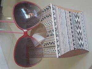 XXL Sonnenbrille Pink weiss Hippie Markt Ibiza