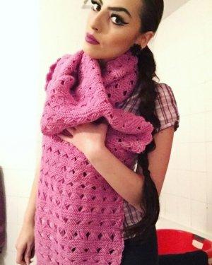 XXL Strickschal in pink