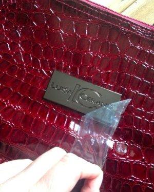 XXL Tasche aus Lack Leder Lackleder weinrot mit monogram