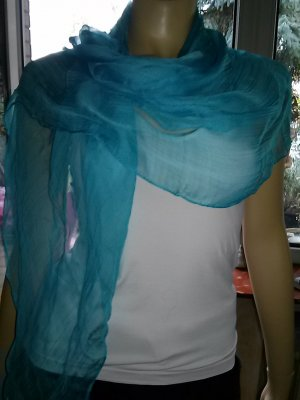 n.d.c. made by hand Halsdoek turkoois Rayon