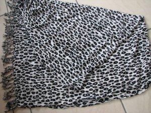 Kerchief white-black