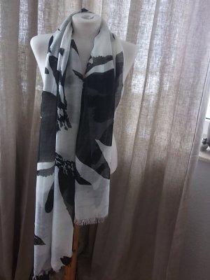 Châle noir-blanc viscose
