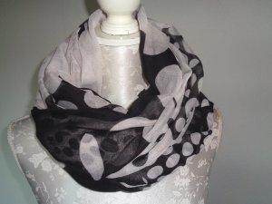 Desigual Chal blanco-negro fibra textil