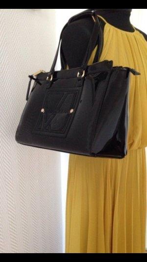 XXL Versace Handtasche schwarz, Designer Tasche Vintage
