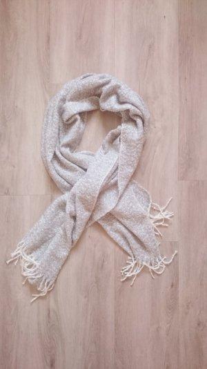 XXL Woll Schal grau/weiß