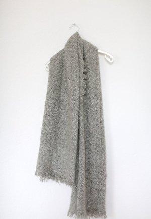 XXL Zara Schal in Grau meliert Oversized Tuch Scarf Blogger