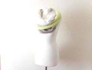 XXL Zara Schal taupe weiß grau gelb neon gün ombre dip dye trend blogger