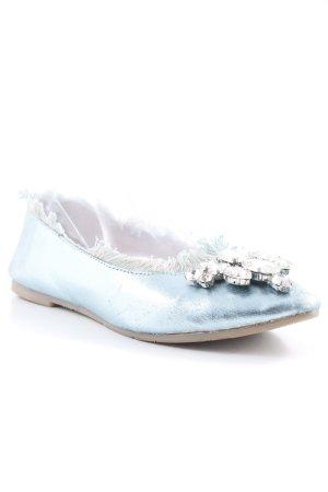 Xyxyx Ballerinas mit Spitze hellblau Casual-Look