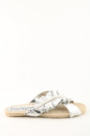 Xyxyx Espadrille Sandals silver-colored casual look