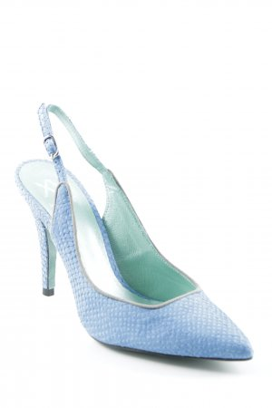 Xyxyx Strapped pumps neon blue casual look