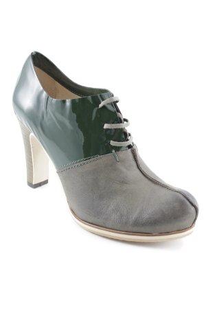 Xyxyx Tacones con cordones verde oscuro-gris verdoso look casual
