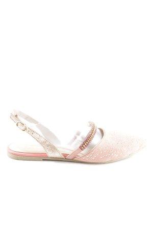 Xyxyx Slingback Ballerinas pink casual look
